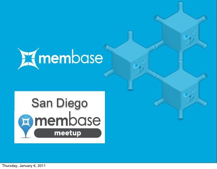 Membase Meetup - San Diego
