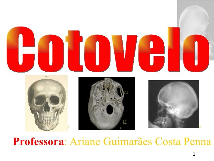 <ul><ul><li>Professora : Ariane Guimarães Costa Penna </li></ul></ul>Cotovelo 1 3 2