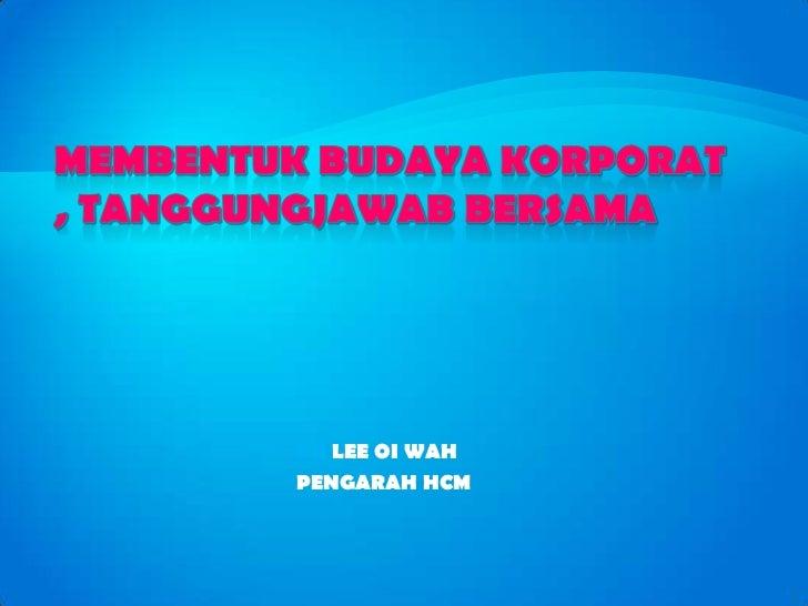 DR LEE OI WAHPENGARAH HCM