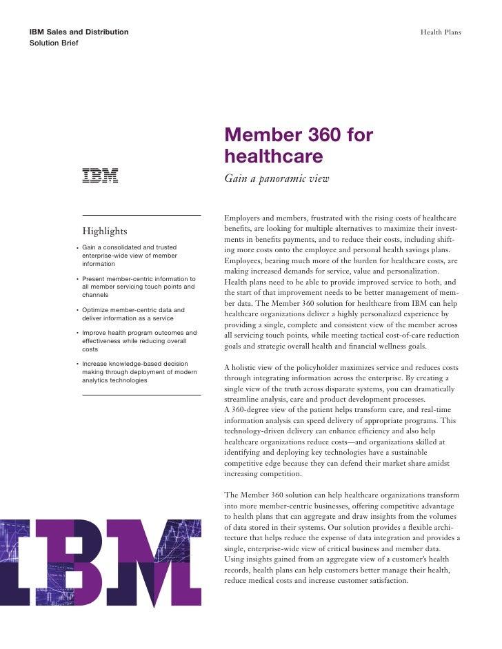 IBM Sales and Distribution                                                                                          Health...
