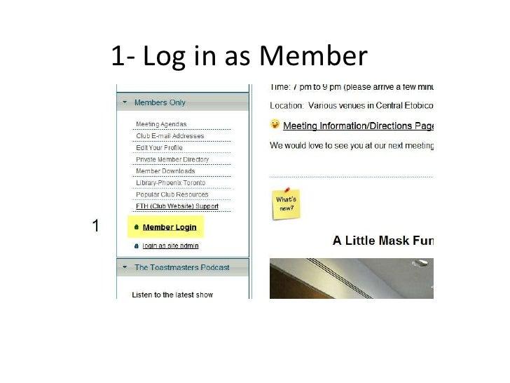 1- Log in as Member