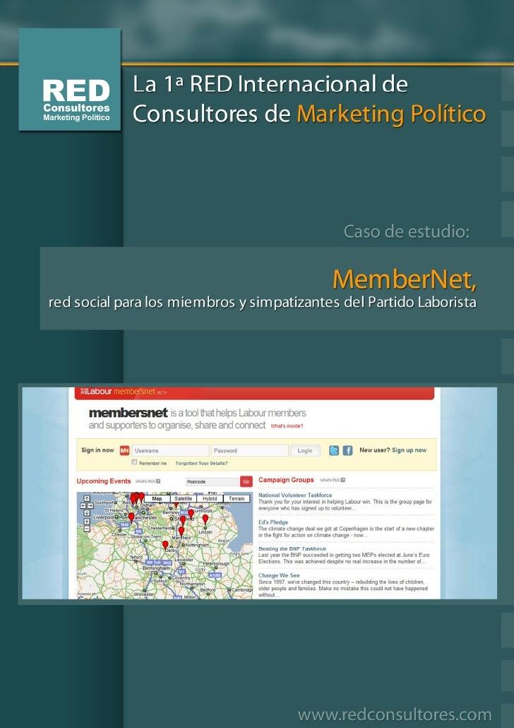 MemberNet, red social para los miembros y simpatizantes del Partido Laborista   http://members.labour.org.uk   Página de a...