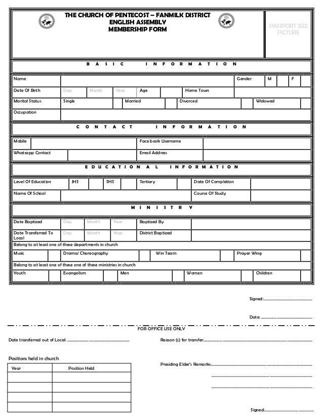 Church membership form dolapgnetband church membership form thecheapjerseys Choice Image