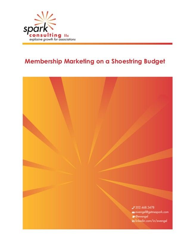 Membership Marketing on a Shoestring Budget