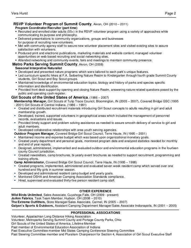 sample volunteer coordinator resume resume volunteer manager