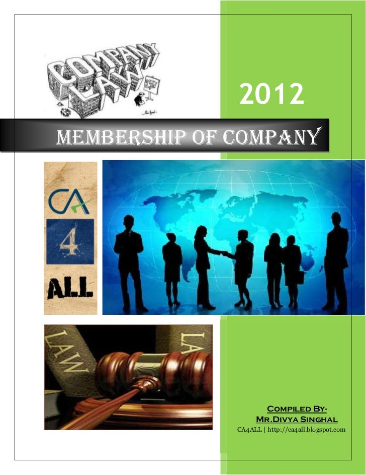 2012Membership of Company                      Compiled By-                    Mr.Divya Singhal              CA4ALL   http...