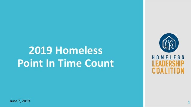 June 7, 2019 2019 Homeless Point In Time Count 1