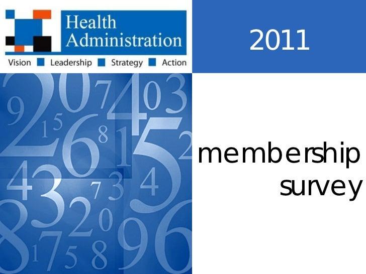 2011membership    survey