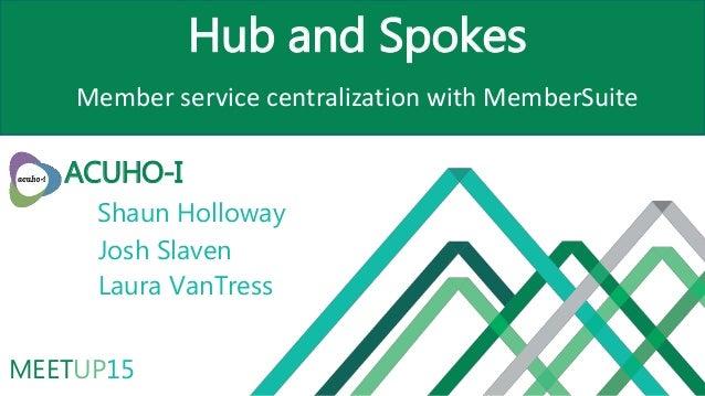 MEETUP15 Hub and Spokes Member service centralization with MemberSuite ACUHO-I Shaun Holloway Josh Slaven Laura VanTress