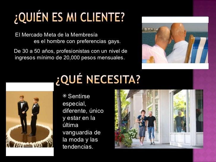 """El Mercado Meta de la Membresía  """"All Access Card""""  es el hombre con preferencias gays.  De 30 a 50 años, profesionistas c..."""