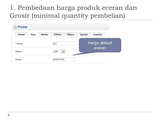 Membuat pembedaan harga produk untuk grosir dan eceran Slide 3