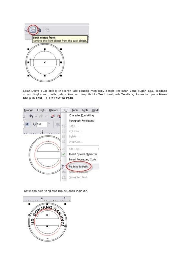 Selanjutnya buat object lingkaran lagi dengan men-copy object lingkaran yang sudah ada, keadaan object lingkaran masih dal...