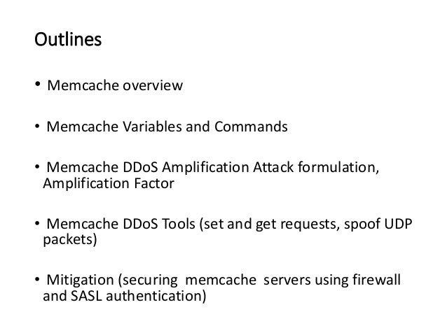 Memcache as udp traffic reflector Slide 2