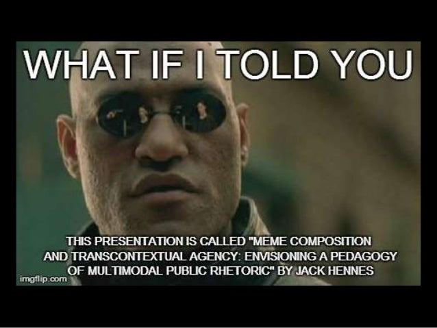 Meme composition and transcontextual agency