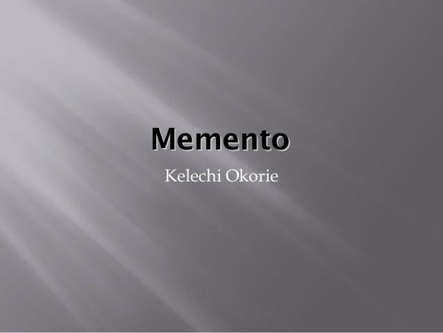 memento video essay memento video essay mementomemento kelechi okorie