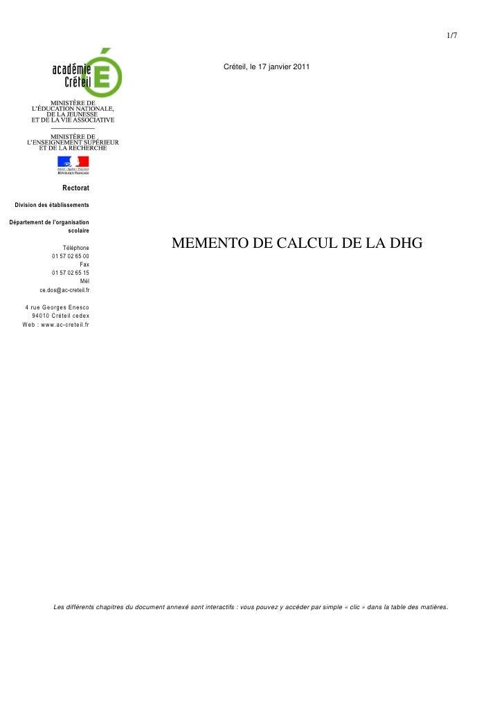 1/7                                                                        Créteil, le 17 janvier 2011                    ...