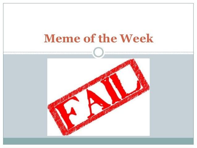 Meme of the Week