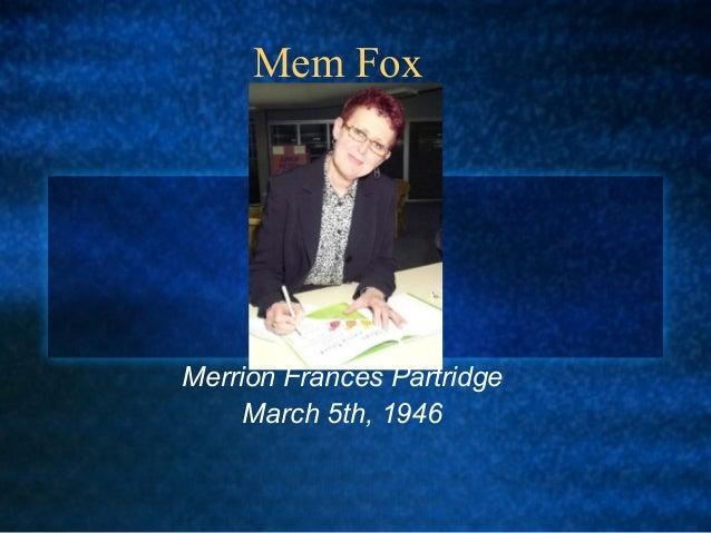 Mem FoxMerrion Frances PartridgeMarch 5th, 1946©
