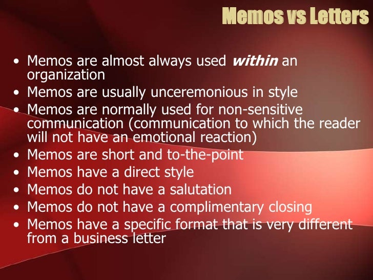 why are memos used