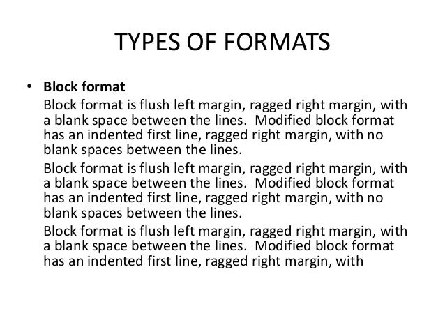 what is the format for a memo
