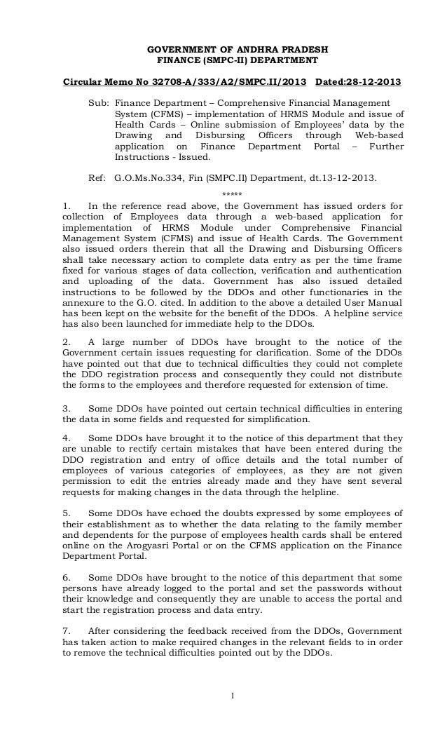Memo32708 Cfms Instructions And Clarifications To Dd Os