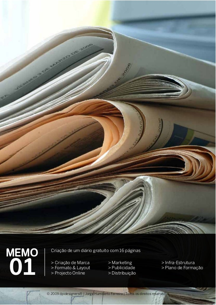 MEMO     Criação de um diário gratuito com 16 páginas01       > Criação de Marca         > Formato & Layout         > Proj...