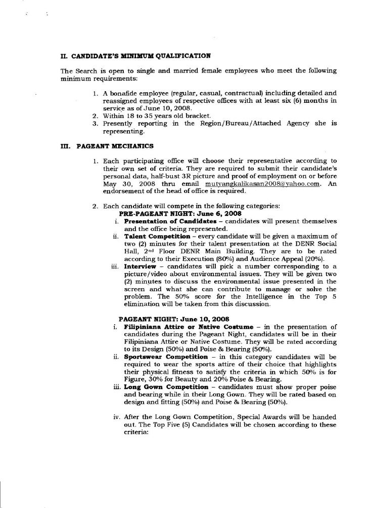 Memo 2008 (Guidelines & Pageant Mechanics for Mutya Ng ...