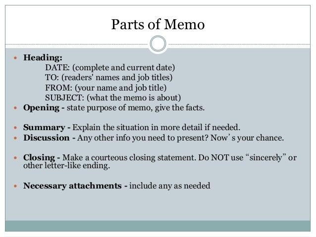 letter of memo