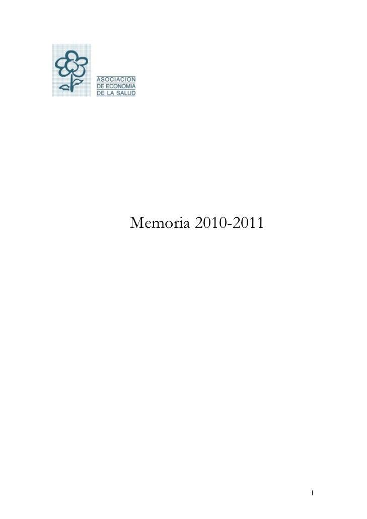 Memoria 2010-2011                    1