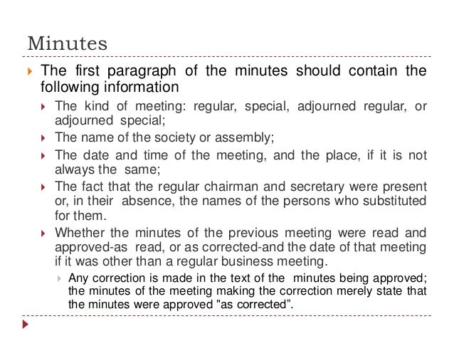 And Minutes Of Meeting