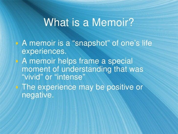 what lenses an important memoir essay
