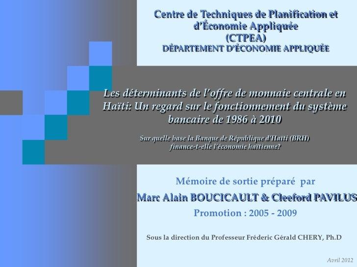 Centre de Techniques de Planification et                   d'Économie Appliquée                          (CTPEA)          ...