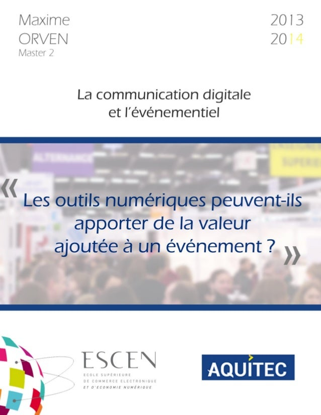 la communication digitale et l u2019 u00e9v u00e9nementiel  m u00e9moire de