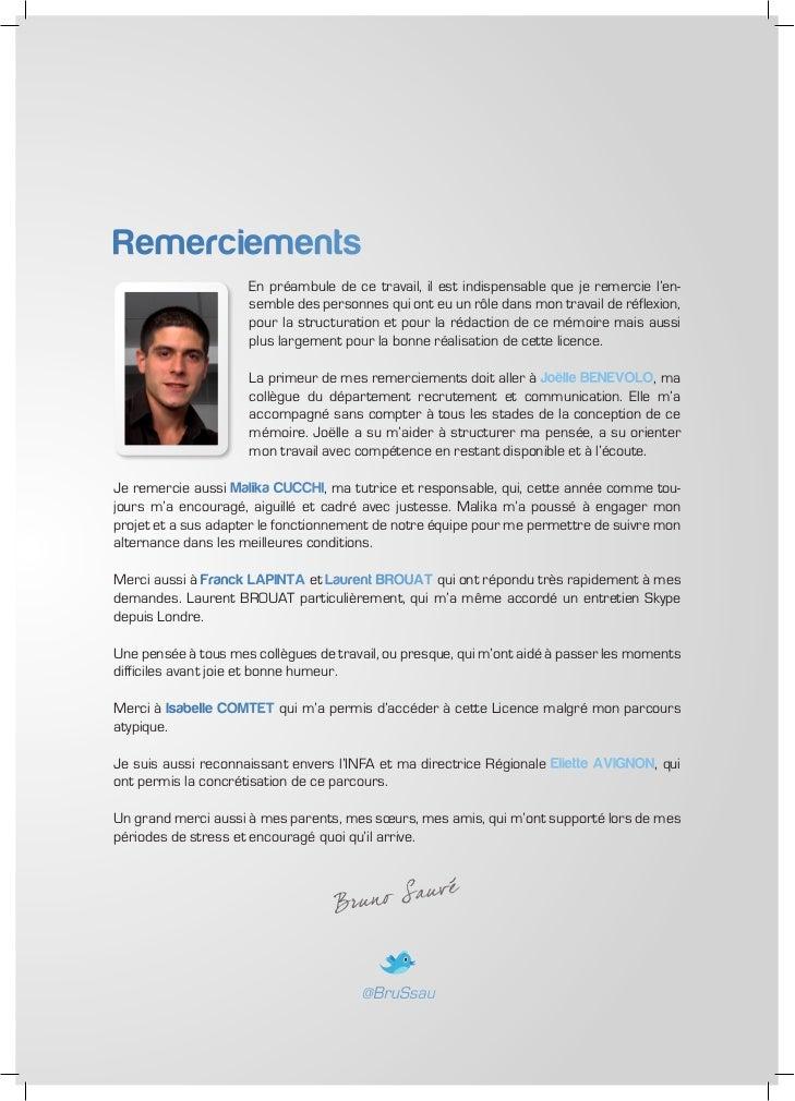 Mémoire de licence - recrutement 2.0 et sourcing Slide 3