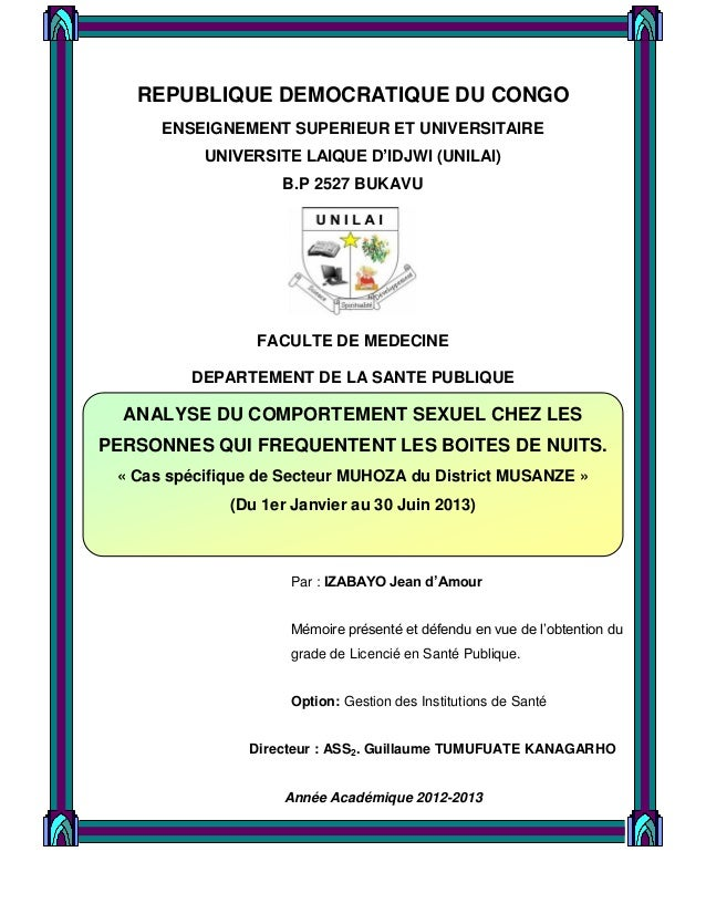 1 REPUBLIQUE DEMOCRATIQUE DU CONGO ENSEIGNEMENT SUPERIEUR ET UNIVERSITAIRE UNIVERSITE LAIQUE D'IDJWI (UNILAI) B.P 2527 BUK...