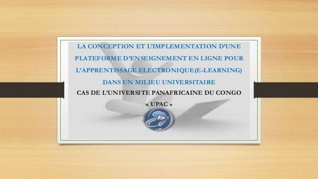 LA CONCEPTION ET L'IMPLEMENTATION D'UNE  PLATEFORME D'ENSEIGNEMENT EN LIGNE POUR  L'APPRENTISSAGE ELECTRONIQUE(E-LEARNING)...