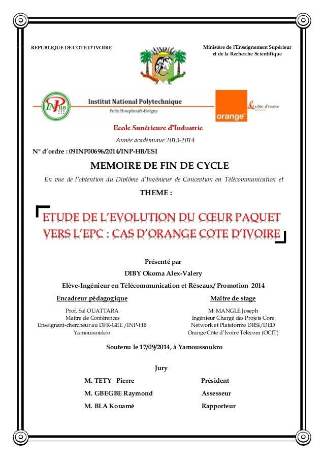REPUBLIQUE DE COTE D'IVOIRE Union-Discipline-Travail Ministère de l'Enseignement Supérieur et de la Recherche Scientifique...