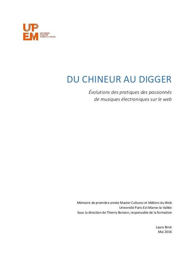 [Mémoire] Du chineur au digger - Évolutions des pratiques des passionnés de musiques électroniques sur le web Slide 2