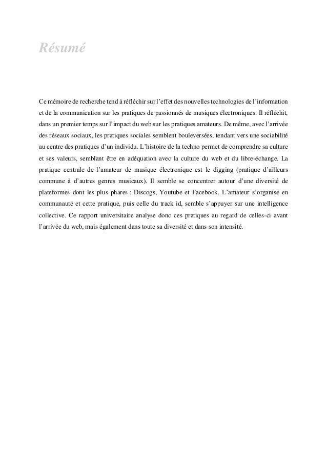 [Mémoire] Du chineur au digger - Évolutions des pratiques des passionnés de musiques électroniques sur le web Slide 3