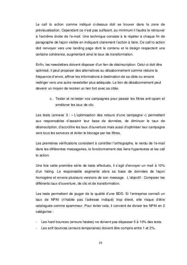 Memoire Master 2 Comment Ameliorer Le Retour Sur Investissement Des