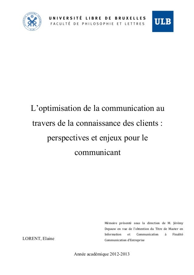 Communication masters thesis