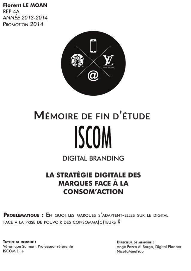 211d3accd3fdb9 Memoire ISCOM   En quoi les marques s adaptent-elles sur le digital …