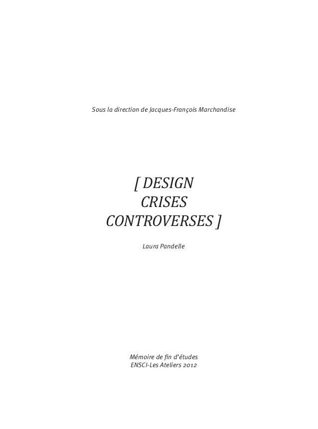 Design crises controverses - Mémoire de Laura Pandelle Slide 3