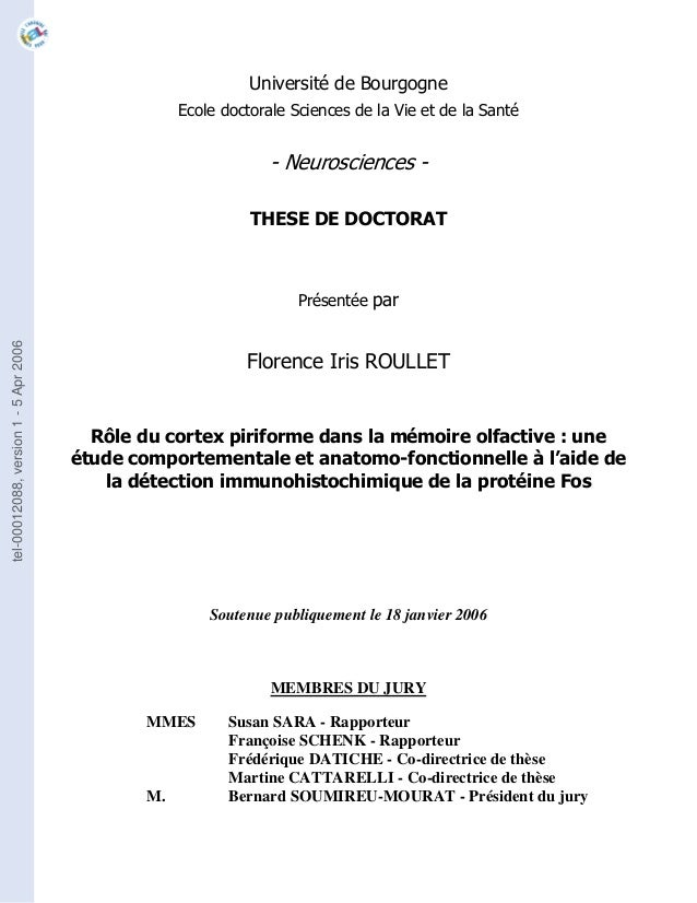 Memoire olfactive roullet 2006 these fi roullet