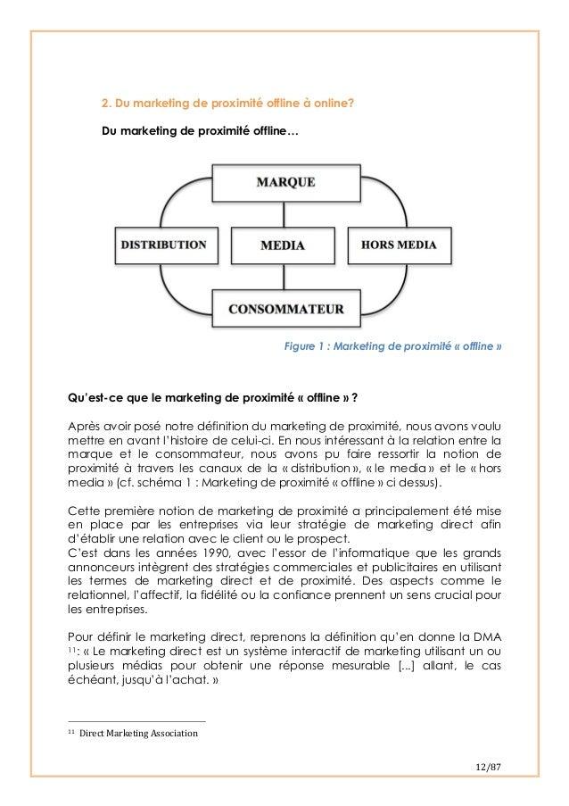 12/87 2. Du marketing de proximité offline à online?Du marketing de proximité offline…Figure 1 : Marketing de proximité ...