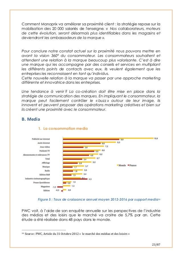 23/87 Comment Monoprix va améliorer sa proximité client : la stratégie repose sur lamobilisation des 20 000 salariés de ...