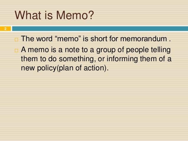 Memo Writing Slide 2