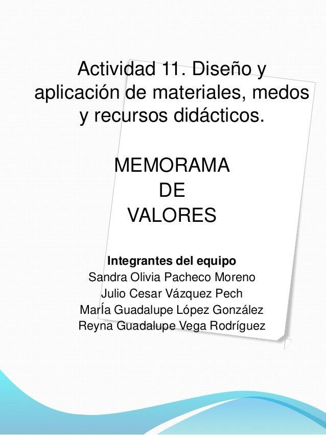 Memorama de valores Slide 2