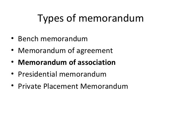 Business Memorandum