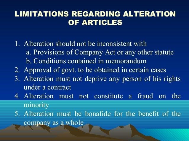 Memorandum And Article